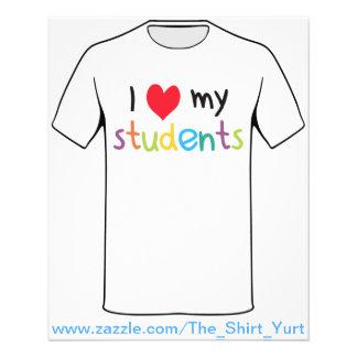 I coeur mon amour de professeur d'étudiants prospectus 11,4 cm x 14,2 cm