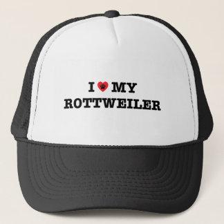I coeur mon casquette de camionneur de rottweiler
