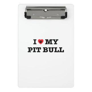 I coeur mon mini porte - bloc de pitbull