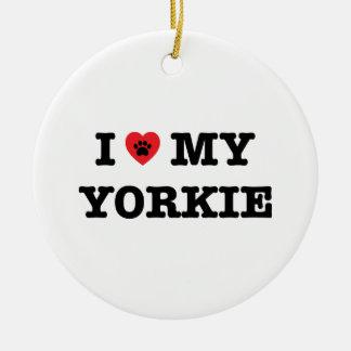 I coeur mon ornement de Yorkie