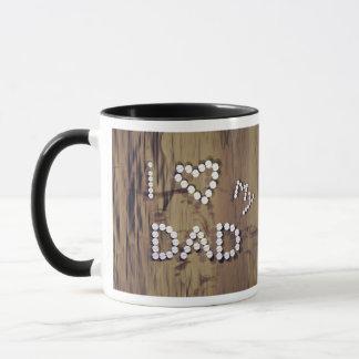 I coeur mon papa sur le graphique de Bois-Regard Mug