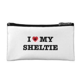 I coeur mon sac de cosmétique de Sheltie
