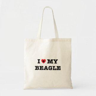 I coeur mon sac fourre-tout à beagle