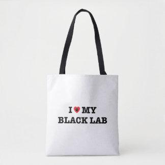 I coeur mon sac fourre-tout noir à laboratoire