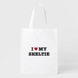 I coeur mon sac réutilisable de Sheltie