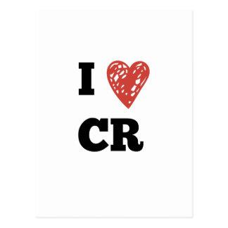 I CR de coeur - Cedar Rapids Iowa Cartes Postales