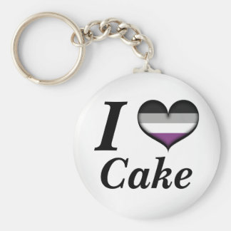 I de Aseksuele Cake van het Hart Sleutelhanger