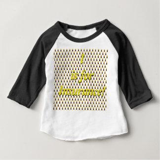 I est pour le T-shirt de raglan d'assurance