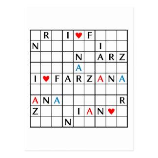 I♥FARZANA CARTE POSTALE