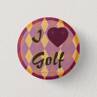 I Jacquard tropical de golf de coeur Badge Rond 2,50 Cm