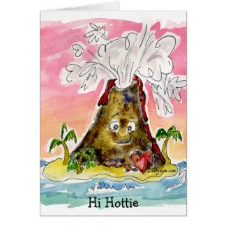 I lave vous carte de Valentine de volcan