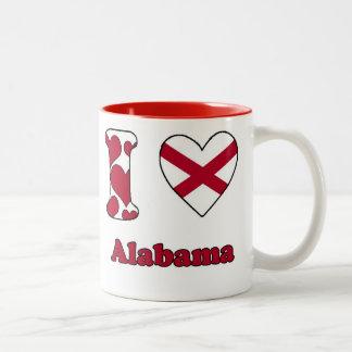 I love Alabama Tweekleurige Koffiemok