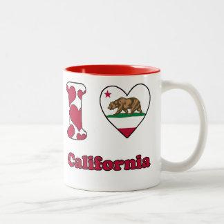 I love California Tweekleurige Koffiemok