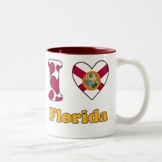 I love Florida Tweekleurige Koffiemok