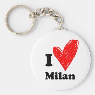 I love Milan Porte-clés