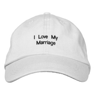 I Love My Marriage le Cap (White) Casquette Brodée