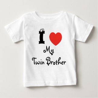 I love my twin brother shirt. t-shirt pour bébé