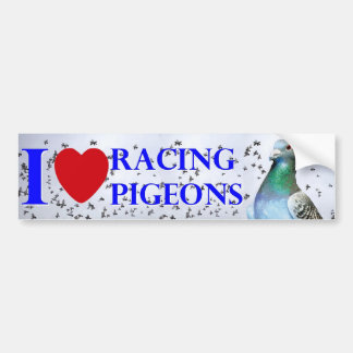I love racing pigeons autocollant de voiture