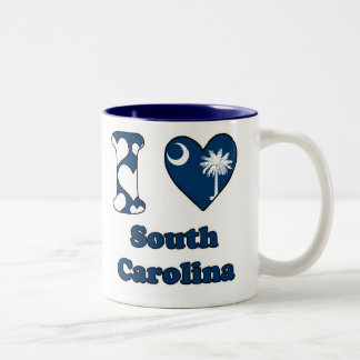 I love South Carolina Tweekleurige Koffiemok
