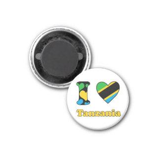 I love Tanzanie magnet Magnet Carré 2,50 Cm
