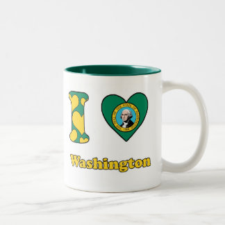 I love Washington Tweekleurige Koffiemok