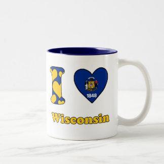 I love Wisconsin Tweekleurige Koffiemok