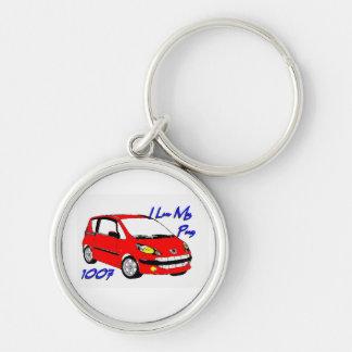 I Luv mon rouge 1007 de porte - clé de carlin Porte-clés