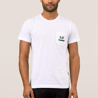 I # MOTS DE PASSE (2 ligne) - le T-shirts empoché