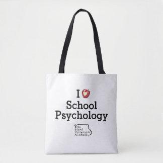I sac fourre-tout à psychologie d'école de coeur