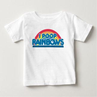 I T-shirt de bébé d'arcs-en-ciel de dunette