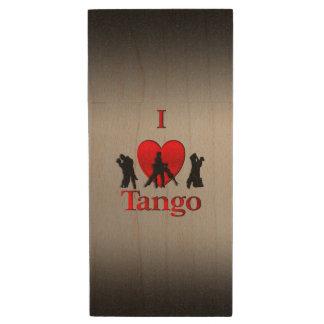 I tango de coeur clé USB 2.0 en bois