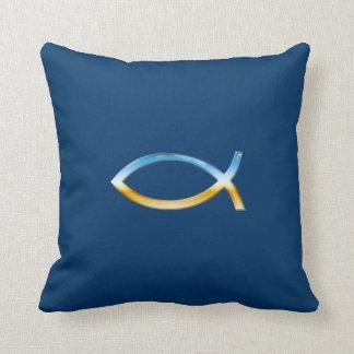 Ichthus - coussin chrétien de symbole de poissons