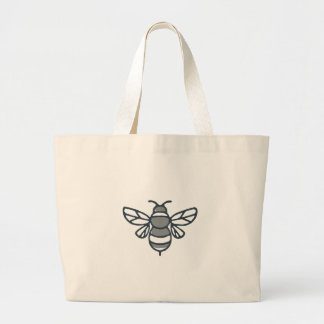Icône d'abeille de bourdon grand tote bag