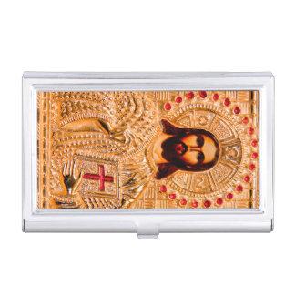 Icône d'or de Jésus-Christ Étui Pour Cartes De Visite