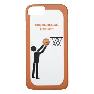Icône noire de joueur de basket avec la coutume de coque iPhone 7