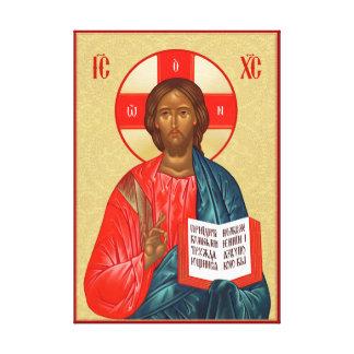 Icône orthodoxe russe de Jésus-Christ Toile