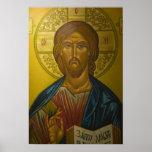 Icône russe à l'intérieur d'église de St Sophia/ Affiche
