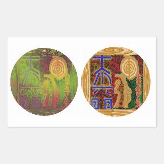 ICÔNES de ReikiHealingArt n Karuna Reiki Sticker Rectangulaire