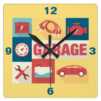 Iconique professionnel de dépanneur de voiture horloge carrée