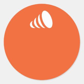 ideama oranje… ronde stickers