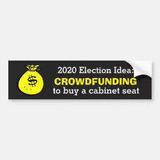 Idée d'élection de Crowdfunding Autocollant De Voiture