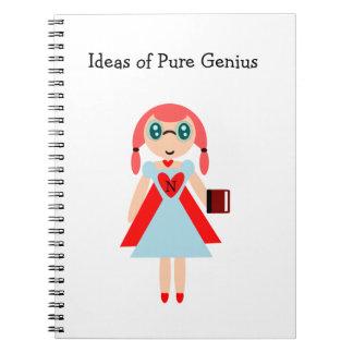 Idées de carnet nerd superbe de génie pur