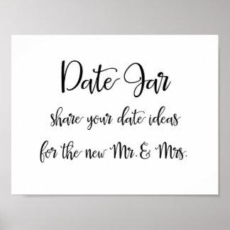 Idées de pot de date épousant le signe poster