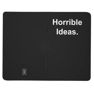 Idées horribles (blanches sur le noir) carnet de poche