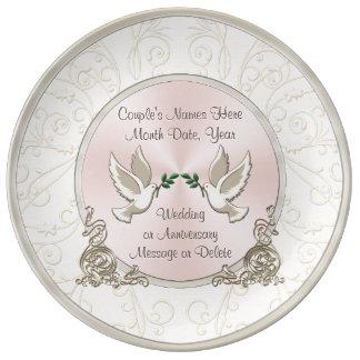 Idées personnalisées uniques magnifiques de cadeau assiette en porcelaine
