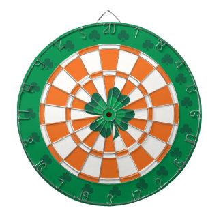 Iers Dartboard: Groen, Oranje klaver, en Wit Dartbord