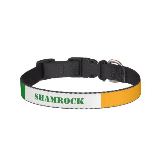 Ierse Vlag ROI Ierland Gepersonaliseerde Tricolor Huisdier Halsbandje