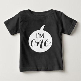 """""""ik ben Één"""" 1st Baby van de Verjaardag Baby T Shirts"""