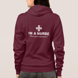 Ik ben een verpleegster wat uw grootmacht hoodie