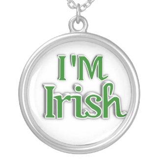 Ik ben het Ierse Afbeelding van de Tekst Ketting Rond Hangertje